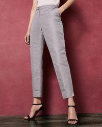 Ted Baker Pantalon De Tailleur Texturé - Gris