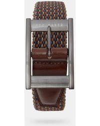 Ted Baker Cinturón Elástico Reversible - Naranja