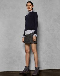 Ted Baker - Pleated Neck Collar Jumper - Lyst