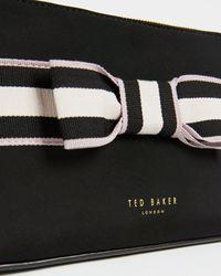 Ted Baker Branded Webbing Neoprene Makeup Bag - Black
