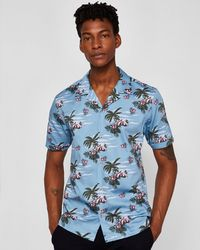 Ted Baker - Men's Bliss Ss Tropical Pattern Shirt - Lyst