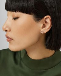 Ted Baker Enamel Button Stud Earrings - Pink