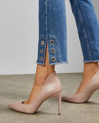 612e9c62bfe Leather Court Shoes - Pink
