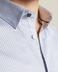 Ted Baker Hemd Mit Geometrischen Print - Mehrfarbig