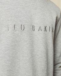 Ted Baker Branded Sweatshirt - Gray