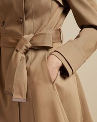 Ted Baker Cotton Fitted Mac Coat - Multicolor
