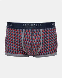 Ted Baker - Geo Print Organic Cotton-blend Boxer Shorts - Lyst