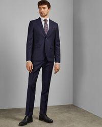 Ted Baker Debonair Striped Wool Jacket - Blue