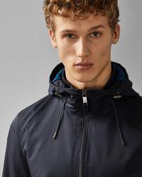 Ted Baker Hooded Lightweight Jacket - Blue