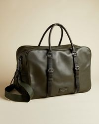 Ted Baker Leather Holdall - Green