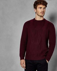 Ted Baker - Cable Knit Jumper - Lyst