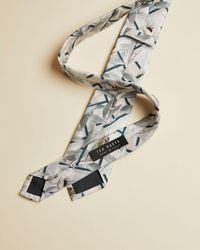 Ted Baker Krawatte Aus Seide Mit Floralem Geo-print - Weiß