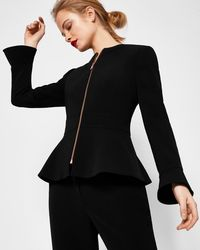 fcb2ca2f8 Ted Baker Toply Bow Cuff Tailored Jacket in Black - Lyst