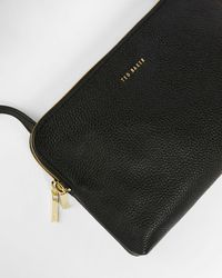 Ted Baker Leather Double Pouch Crossbody Bag - Black