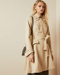 Ted Baker Traditional Belted Mac - Natural