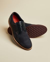 Ted Baker Leather Derby Shoes - Blue