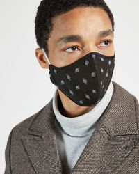 Ted Baker Printed Face Mask - Black