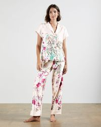 Ted Baker Fern Forest Pyjama Top - Natural