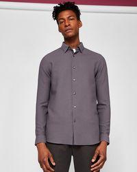 Ted Baker - Waffle Stitch Shirt - Lyst
