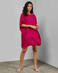 Ted Baker Square Beach Cover Up - Pink