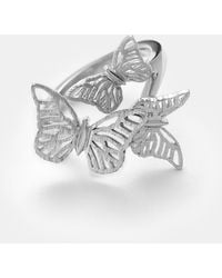Ted Baker - Triple Butterfly Sterling Silver Ring - Lyst