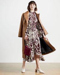 Ted Baker Giraffe Print Belted Dress - Brown