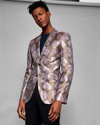 Ted Baker - Global Silk Floral Jacquard Jacket - Lyst
