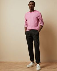 Ted Baker Cotton Crew Neck Jumper - Pink