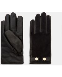 Ted Baker - Suede Detail Leather Gloves - Lyst