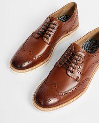 Ted Baker Hybrid Brogue Shoe - Brown