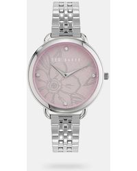 Ted Baker Metal Strap Watch With Crystals From Swarovski® - Multicolour