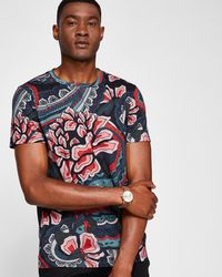 Ted Baker - Paisley Print T-shirt - Lyst