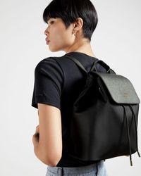 Ted Baker Nylon Drawstring Backpack - Black