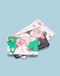 Ted Baker - Iguazu Set Of Three Leather Pouches - - Lyst