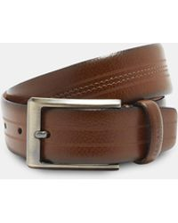 Ted Baker - Stitch Detail Leather Belt - Lyst
