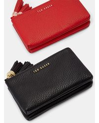 Ted Baker - Tassel Double Leather Coin Purse - Lyst