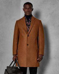 Ted Baker Pin Dot Overcoat - Marrón