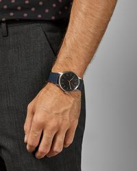 Ted Baker - Montre Avec Bracelet En Cuir - Lyst