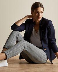 Ted Baker Pantalon Skinny À Carreaux - Gris