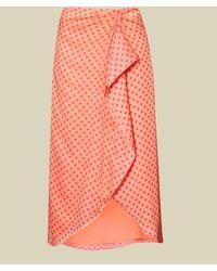 Ted Baker Contrast Spot Wrap Skirt - Multicolour