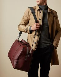 Ted Baker Core Leather Holdall - Red