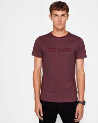 Ted Baker - Spot Print Cotton T-shirt - Lyst