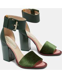 Ted Baker - Block Heel Sandals - Lyst