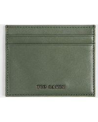 Ted Baker Coloured Leather Cardholder - Verde