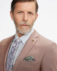 Ted Baker Slim Fit Plain Suit Jacket - Pink