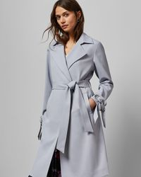 Ted Baker Belted Trench Coat - Gray