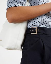 Ted Baker Pantalon À Pinces Fuselé - Bleu