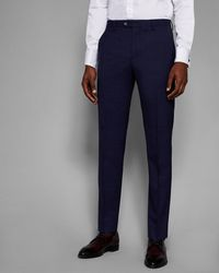 Ted Baker - Slim Fit Check Trousers - Lyst