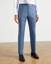 Ted Baker Debonair Anzughose Aus Woll-kammgarnstoff - Blau
