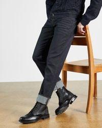 Ted Baker Straight Leg Rinse Wash Jean - Blue